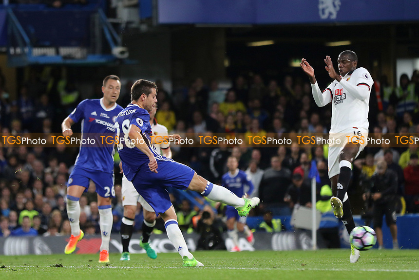 Cesar Azpilicueta scores Chelsea's second goal during Chelsea vs Watford, Premier League Football at Stamford Bridge on 15th May 2017