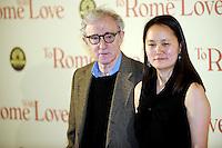 Woody Allen, Soon Yi Previn.Roma 13/4/2012 Auditorium.To Rome with Love - World Premiere.Foto Insidefoto Andrea Staccioli