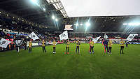 Guard of honour during the Barclays Premier League match between Swansea City and Crystal Palace at the Liberty Stadium, Swansea on February 06 2016