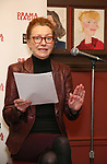 Julie White attends the 2018 Drama League Awards nominees at Sardi's on April 18, 2018 in New York City.