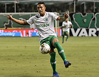 PALMIRA - COLOMBIA, 26-05-2019: Sebastian Gomez de Nacional en acción durante el partido entre Deportivo Cali y Atlético Nacional por la fecha 4, cuadrangulares semifinales, de la Liga Águila I 2019 jugado en el estadio Deportivo Cali de la ciudad de Palmira. / Sebastian Gomez of Nacional in action during match for the date 4, semifinal quadrangulars,, between Deportivo Cali and Atletico Nacional of the Aguila League I 2019 played at Deportivo Cali stadium in Palmira city.  Photo: VizzorImage / Gabriel Aponte / Staff