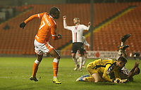 Blackpool's Nathan Delfouneso celebrates scoring his side's second goal <br /> <br /> Photographer Stephen White/CameraSport<br /> <br /> The EFL Sky Bet League One - Blackpool v Charlton Athletic - Saturday 8th December 2018 - Bloomfield Road - Blackpool<br /> <br /> World Copyright &copy; 2018 CameraSport. All rights reserved. 43 Linden Ave. Countesthorpe. Leicester. England. LE8 5PG - Tel: +44 (0) 116 277 4147 - admin@camerasport.com - www.camerasport.com