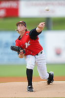 Starting pitcher Joe Serafin #38 of the Kannapolis Intimidators in action versus the Bowling Green Hot Rods at Fieldcrest Cannon Stadium August 23, 2009 in Kannapolis, North Carolina. (Photo by Brian Westerholt / Four Seam Images)