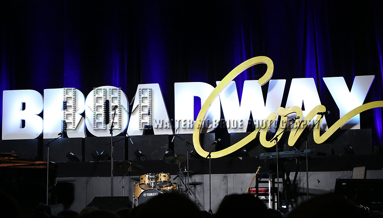 The stage during the BroadwayCON 2020 First Look at the New York Hilton Midtown Hotel on January 24, 2020 in New York City.