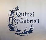 Sign, Exterior, Pan Quinzi e Gabrieli Restaurant, Rome, Italy