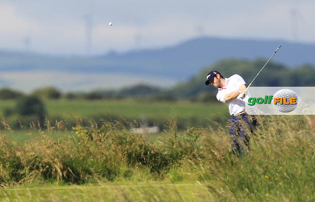 Aaron Kearney (Castlerock) on the 3rd tee during Round 3 of Matchplay in the North of Ireland Amateur Open Championship at Portrush Golf Club, Portrush on Thursday 14th July 2016.<br /> Picture:  Thos Caffrey / www.golffile.ie