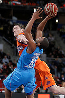Valencia Basket Club's Serhiy Lishchuk (l) and Asefa Estudiantes' Jayson Granger during Spanish Basketball King's Cup match.February 07,2013. (ALTERPHOTOS/Acero) /NortePhoto