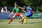 2018-06-30 / Voetbal / Seizoen 2018-2019 / KFC Houtvenne - KVC Westerlo / Arne Wouters (l. Houtvenne) met Bernardinho Osah<br /> <br /> ,Foto: Mpics