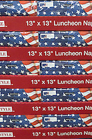 A pallet of patriotic napkins at Wal-Mart in 2011.