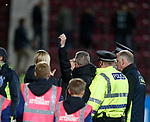 09.05.2018 Hearts v Hibs: Neil lennon gestures to the Hearts fans as he walks off