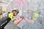 Esteban Chaves (COL) Mitchelton-Scott signs on before the start of Stage 6 of the 2018 Giro d'Italia, running 169km from Caltanissetta to the Etna (Osservatorio Astrofisico) marks the first mountain finish of the race finishing on the Osservatorio Astrofisico climb for the first time in race's history, Sicily, Italy. 10th May 2018.<br /> Picture: LaPresse/Massimo Paolone | Cyclefile<br /> <br /> <br /> All photos usage must carry mandatory copyright credit (&copy; Cyclefile | LaPresse/Massimo Paolone)