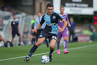 Luke O'Nien of Wycombe Wanderers controls the ball during the Sky Bet League 2 match between Wycombe Wanderers and Plymouth Argyle at Adams Park, High Wycombe, England on 12 September 2015. Photo by Andy Rowland.