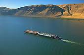 Barge on Columbia River