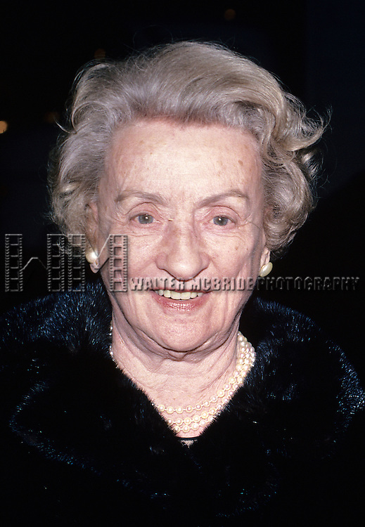 Mildred Natwick  pictured in New York City in 1985.