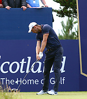 Martin Kaymer (GER) on the  1st tee during the preview of the Aberdeen Standard Investments Scottish Open, Renaissance Club, North Berwick, East Lothian, Scotland. 11/07/2019.<br /> Picture Kevin McGlynn / Golffile.ie<br /> <br /> All photo usage must carry mandatory copyright credit (© Golffile | Kevin McGlynn)