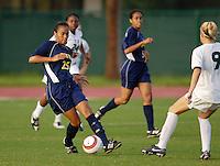 Florida International University Golden Panthers Women's Soccer versus the University of Miami Hurricanes in Coral Gables, Florida on Wednesday, September 6, 2006...Sophomore defender/midfielder Francesca Chong (25)