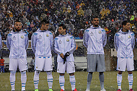 Argentina soccer players attend a friendly match between Argentina and Ecuador as Snow falls in New Jersey. 03.31.2015. Kena Betancur / VIEWpress.