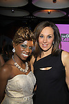 Host Delaina Dixon(Daily Gals Diva) of The Gossip Table poses with Good Day New York Rosanna Scotta at the Launch Party to celebrate our new VH1 morning show beginning June 3 - party was on May 30, 2013 at Catch Roof, New York City, New York. (Photo by Sue Coflin/Max Photos)