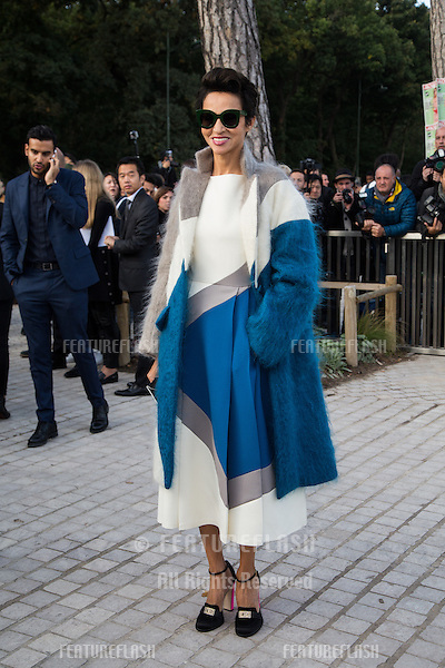 Farida Khelfa attend Louis Vuitton Show Front Row - Paris Fashion Week  2016.<br /> October 7, 2015 Paris, France<br /> Picture: Kristina Afanasyeva / Featureflash