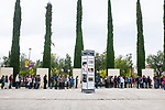 Catalans waiting to vote at Biblioteca Central Gabriel Ferrater, Sant Cugat del Valles, just outside Barcelona, Catalonia, so that they can vote in the Catalan Independence Referendum. People had spend the night guarding the voting stations so that they were not seized by police. <br /> <br /> October 1st 2017, Catalans voted in a binding referendum to decide whether the region should stay in Spain, or leave and become an independent Republic. The Madrid government of Mariano Rajoy sent thousands of extra police into Catalonia, brutally attacking around 10% of  voting centres and seizing ballot boxes, injuring nearly 1000 people in an effort to stop the vote. Despite the violence, there was turn turnout of well more than 42% with around 90% in favour of independence. Some 770,000 votes from an electorate of 5.5 million were stolen by police forces or unable to be cast  because of raids.