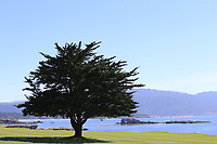 View from the 18th hole at Pebble Beach course during Friday's Round 2 of the 2018 AT&amp;T Pebble Beach Pro-Am, held over 3 courses Pebble Beach, Spyglass Hill and Monterey, California, USA. 9th February 2018.<br /> Picture: Eoin Clarke | Golffile<br /> <br /> <br /> All photos usage must carry mandatory copyright credit (&copy; Golffile | Eoin Clarke)