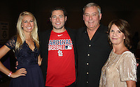 NWA Democrat-Gazette/CARIN SCHOPPMEYER Laurie Anderson and Lasun Russell (from left) and Gary and Teri Head attend the Pagnozzi Charities Ultimate Tailgate on Oct. 22.