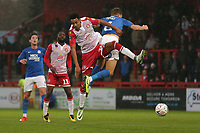 Kurtis Guthrie of Stevenage and Frankie Kent of Peterborough United during Stevenage vs Peterborough United, Emirates FA Cup Football at the Lamex Stadium on 9th November 2019
