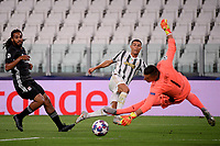 Cristiano Ronaldo of Juventus misses a chance during the Champions League round of 16 second leg football match between Juventus FC and Lyon at Juventus stadium in Turin (Italy), August 7th, 2020. <br /> Photo Federico Tardito / Insidefoto