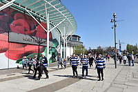 Supporters arrive at Twickenham Stadium. The Clash, Aviva Premiership match, between Bath Rugby and Leicester Tigers on April 8, 2017 at Twickenham Stadium in London, England. Photo by: Patrick Khachfe / Onside Images