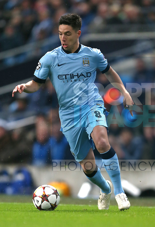 Samir Nasri of Manchester City  - UEFA Champions League group E - Manchester City vs Bayern Munich - Etihad Stadium - Manchester - England - 25rd November 2014  - Picture Simon Bellis/Sportimage