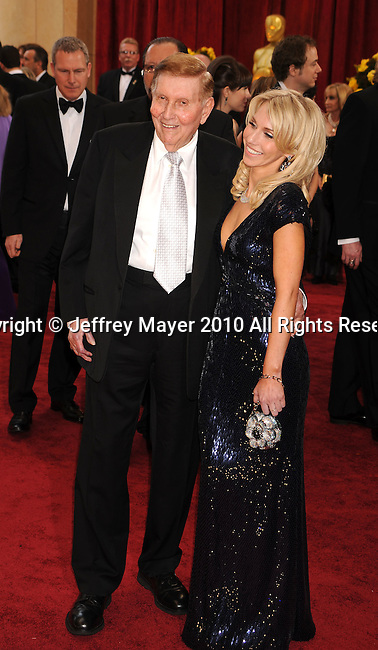 HOLLYWOOD, CA. - March 07: Chairman of the Board, Viacom and CBS Corp Sumner Redstone (L) and Malia Andelin arrive at the 82nd Annual Academy Awards held at the Kodak Theatre on March 7, 2010 in Hollywood, California.