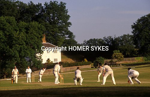 Village cricket at The Barley Mow, Tilford Surrey England