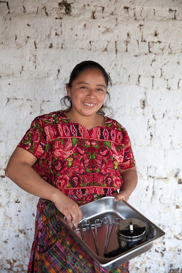 For GLOBAL FUND FOR WOMEN<br /> <br /> Gloria Marina Icu Puluc from Asociaci&oacute;n Civil de Comadronas Tradicionales de Chimaltenango (ACOTCHI) in San Juan Comalapa, Guatemala on August 20, 2015. Photo credit: B&eacute;n&eacute;dicte Desrus
