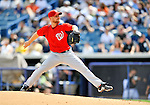 5 March 2011: Washington Nationals' pitcher Chad Gaudin in action during a Spring Training game against the New York Yankees at George M. Steinbrenner Field in Tampa, Florida. The Nationals defeated the Yankees 10-8 in Grapefruit League action. Mandatory Credit: Ed Wolfstein Photo