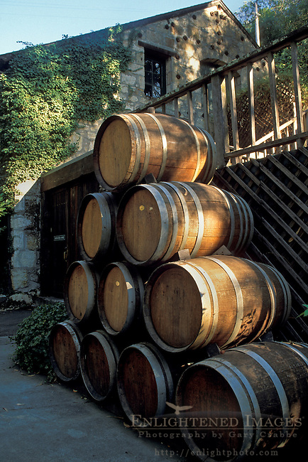 Wine Barrels at Buena Vista Winery, Sonoma County, California