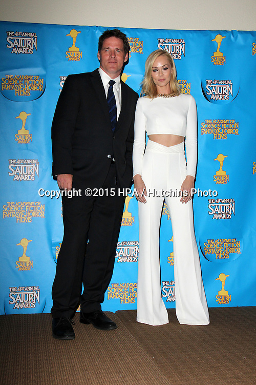 LOS ANGELES - JUN 25:  Ben Browder, Laura Vandervoort at the 41st Annual Saturn Awards Press Room at the The Castaways on June 25, 2015 in Burbank, CA