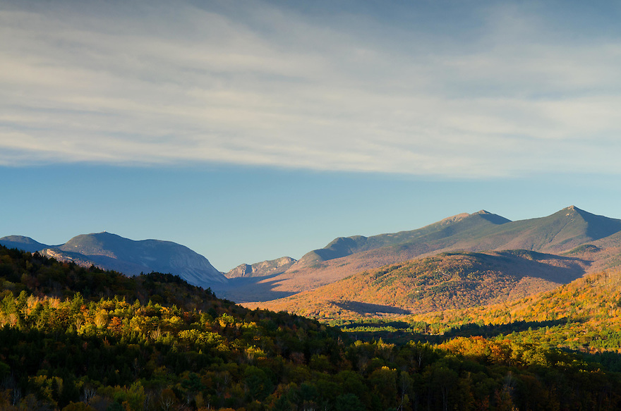 In the valley south of Franconia Notch, autumn arrives.