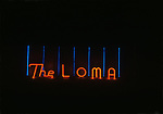 Neon sign at The Loma bar in Hollywood, CA