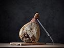 16/01/15 - CHEZ TABLE - PUY DE DOME - FRANCE - Mise en scene de charcuterie AOP Salaisons d Auvergne. Jambon de montagne - Photo Jerome CHABANNE