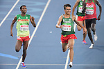 (L-R) Tamiru Demisse (ETH), Abdellatif Baka (ALG), <br /> SEPTEMBER 11, 2016 - Athletics : <br /> Men's 1500m T13 Final <br /> at Olympic Stadium<br /> during the Rio 2016 Paralympic Games in Rio de Janeiro, Brazil.<br /> (Photo by AFLO SPORT)