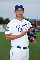 Burlington Royals pitcher Michael Silva (15) poses for a photo prior to the game against the Bluefield Blue Jays at Burlington Athletic Stadium on June 27, 2016 in Burlington, North Carolina.  The Royals defeated the Blue Jays 9-4.  (Brian Westerholt/Four Seam Images)
