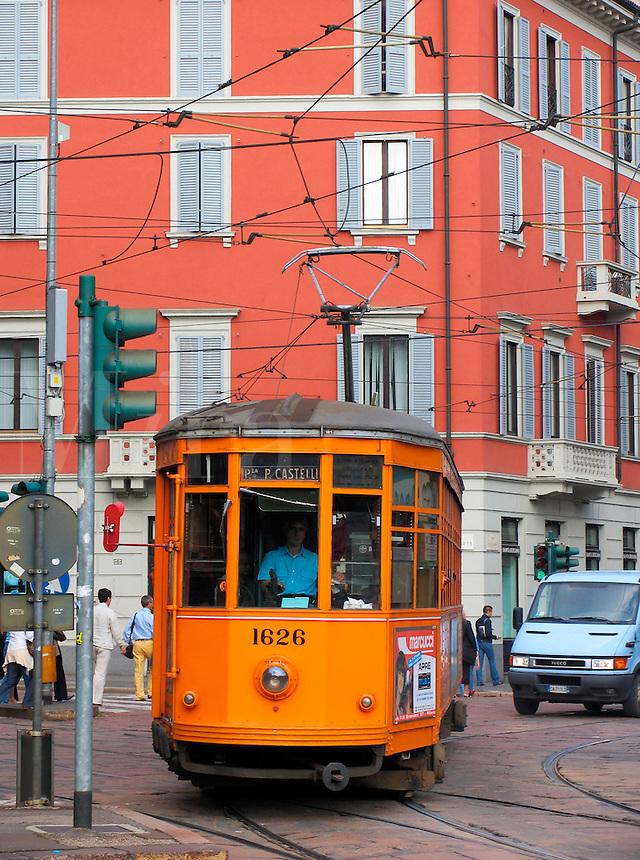 Electric trolley car, Milan, Ital