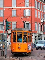 Electric trolley car, Milan, Ital