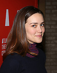 Megan Boone attends the 'Hangmen' Opening Night After Party at the The Gallery at the Dream Downtown on February 5, 2018 in New York City.