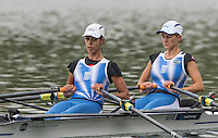 Lucerne, SWITZERLAND<br /> GRE LW2X. Bow. Anastasia VONTZOU and Georgina DIMAKOU.<br /> 2016 European Olympic Qualifying Regatta, Lake Rotsee.<br /> <br /> Monday  23/05/2016<br /> <br /> [Mandatory Credit; Peter SPURRIER/Intersport-images]