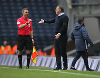 Blackburn Rovers Manager Tony Mowbray complaind to the linesman<br /> <br /> Photographer Mick Walker/CameraSport<br /> <br /> The EFL Sky Bet Championship - Blackburn Rovers v Bristol City - Saturday 9th February 2019 - Ewood Park - Blackburn<br /> <br /> World Copyright &copy; 2019 CameraSport. All rights reserved. 43 Linden Ave. Countesthorpe. Leicester. England. LE8 5PG - Tel: +44 (0) 116 277 4147 - admin@camerasport.com - www.camerasport.com
