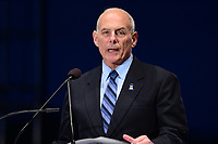 Washington, DC - May 13, 2017: U.S. Secretary of Homeland Security John F. Kelly speaks at the candlelight vigil memorial service during Police Week, May 13, 2017.  (Photo by Don Baxter/Media Images International)