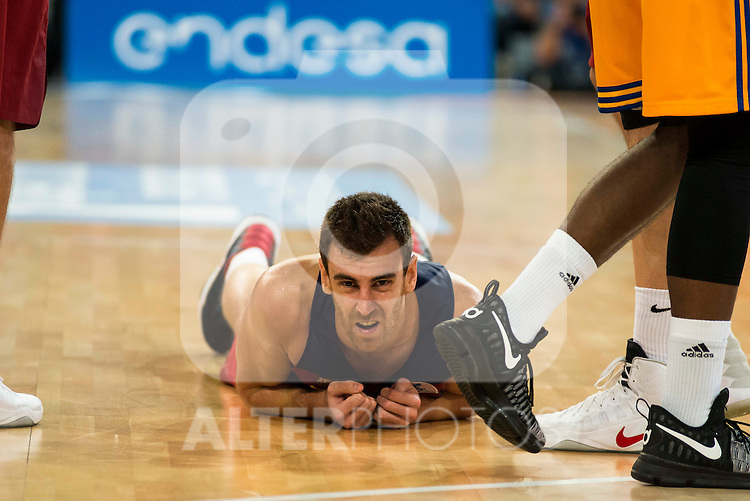FC Barcelona Lassa player Victor Claver during the final of Supercopa of Liga Endesa Madrid. September 24, Spain. 2016. (ALTERPHOTOS/BorjaB.Hojas)