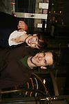 Brittany Allen & Adam Mayfield on AMC Bus Trip Around Manhattan held on September 12, 2009 from the upper east side to Battery Park, Ground Zero and all around Manhattan. (Photo by Sue Coflin/Max Photos)