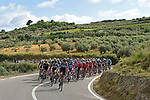 The peleton in action during Stage 5 running 153km from Agrigento to Santa Ninfa (Valle del Belice), Sicily, Italy. 9th May 2018.<br /> Picture: LaPresse/Fabio Ferrari | Cyclefile<br /> <br /> <br /> All photos usage must carry mandatory copyright credit (&copy; Cyclefile | LaPresse/Fabio Ferrari)
